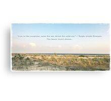 Beach Lover Canvas Print