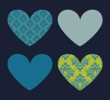 HEARTS QUAD 6 by Kat Massard