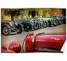 Vintage Aston Martins.  Poster