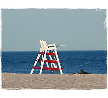 Empty Lifegaurd Photographic Print