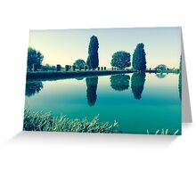 Ancient Villa Pool - Tivoli, Italy Greeting Card