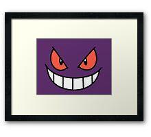 Pokefaces - Gengar Framed Print