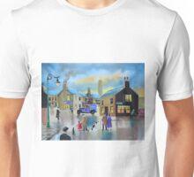 Vintage Tetley tea van street scene painting  Unisex T-Shirt