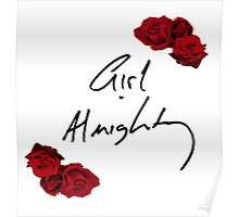 Floral Girl Almighty - One Direction Poster