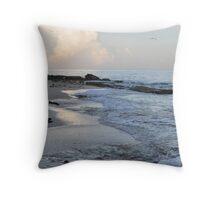 Beach in Cozumel near sunset Throw Pillow