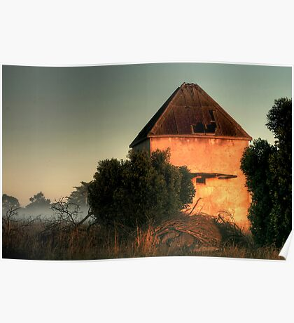 Golden Light on the Chicory Kiln Poster