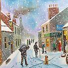 the coal man winter British street scene Poster by gordonbruce