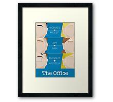 The Office - Love Story Framed Print