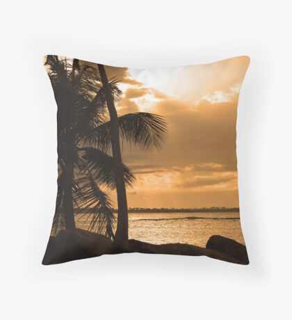 Sunset in Puerto Rico Throw Pillow