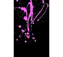 Pink and Black Paint Splat No.1 Photographic Print