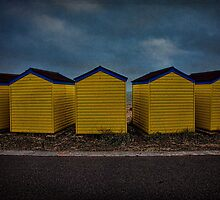 Beach Huts 6 through 10 by Chris Lord