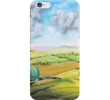 Gypsy caravan and a game of football iPhone Case/Skin