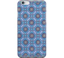 Coloring: More blue tiles  iPhone Case/Skin