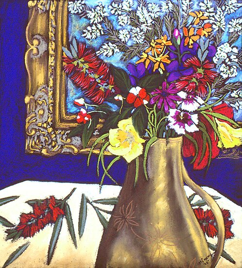 still life & mirror by maria paterson