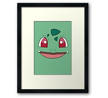 Pokefaces - Bulbasaur Framed Print