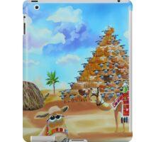 Pyramid of Giza made of sheep iPad Case/Skin