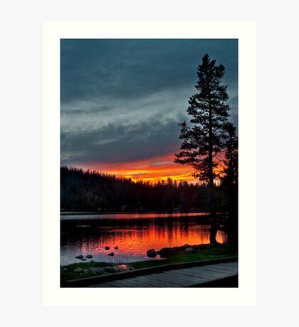 Mirror Lake Sunset Art Print