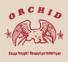 Orchid Dance Tonight Revolution Tomorrow t-shirt by fandemonium