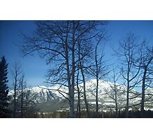Snow Capped Mountians Photographic Print