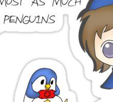 Love Penguins Sticker