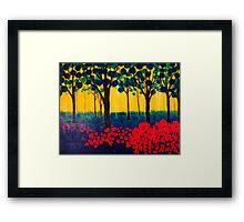 The Poppy Grove Framed Print