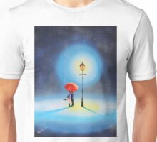 Romantic couple under a street lamp Unisex T-Shirt