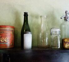 Bottles and a Coffee Can by Susan Savad