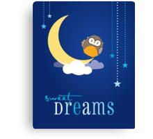 OWL SERIES :: sweet dreams 2 Canvas Print