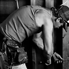 Mat the builder at work by Clare Colins