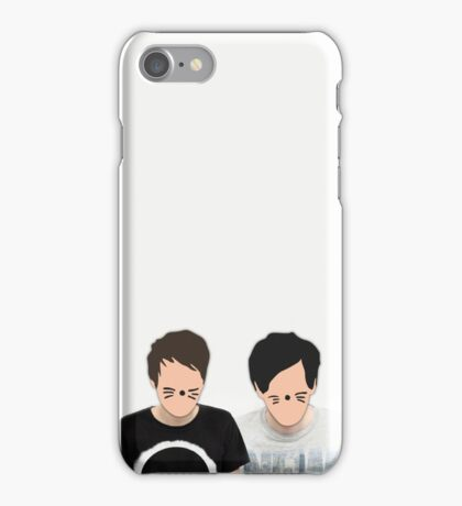 Dan & Phil - Cartoon Faces iPhone Case/Skin
