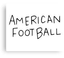 The Regular Show American Football shirt Canvas Print