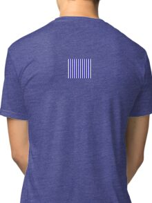 Navy Blue Striped French Bedspread Skirt Tri-blend T-Shirt
