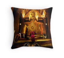Giant Buddha Throw Pillow