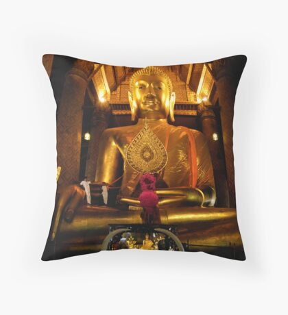 Giant Buddha Throw Pillow