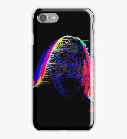 Neon Face Glitch Art iPhone Case/Skin