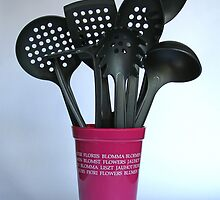 A vase of utensils by Fortune8