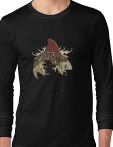 koi shark fin 03 Long Sleeve T-Shirt
