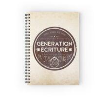 Collection vintage - modèle rond brun Spiral Notebook