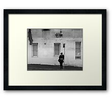 A Photographer in Erskineville Framed Print