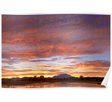 Ripple Cloud Sunset Poster