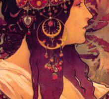 Donna Orechini by Alphonse Mucha Sticker
