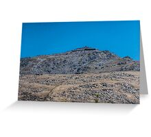 Mount Snowdon in Blue  Greeting Card