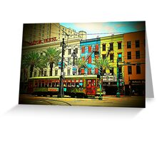 New Orleans Cable Car... Greeting Card