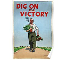 Classic Vintage Posters Food Production Dig for Victory  Poster