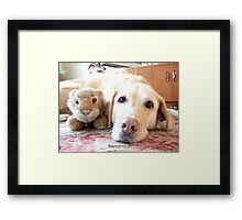 Me And My Tiger BFF Framed Print