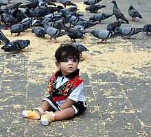 Sat amongst the pigeons by Shubd