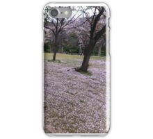 Sakura Trees at Okayama University iPhone Case/Skin