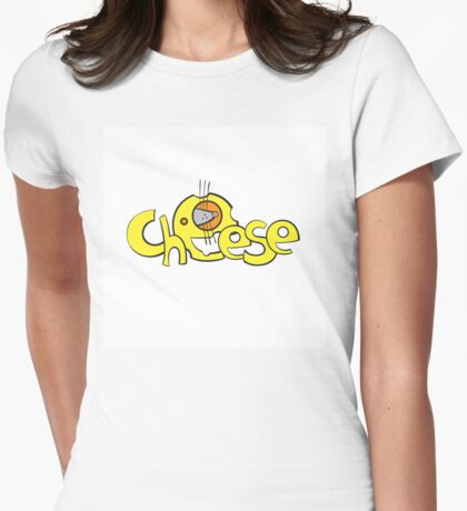 Cheese logo. Womens Fitted T-Shirt