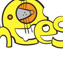 Cheese logo. Sticker