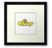 Cheese logo. Framed Print